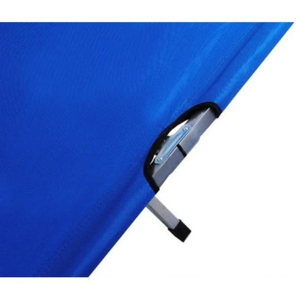 Faltbares Klappbett, belastbar bis 110kg, Detailansicht auf Scharniere