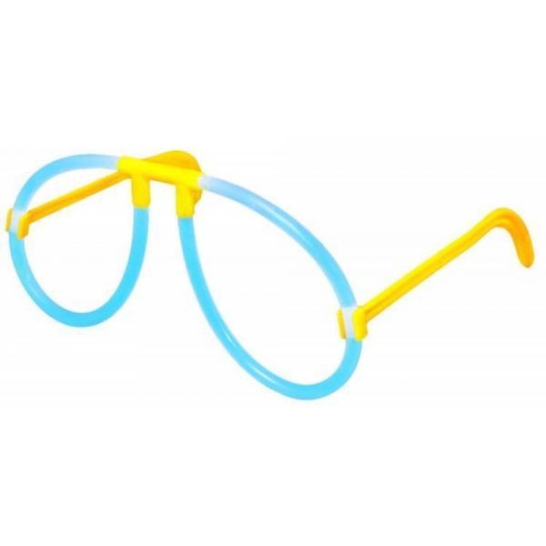 Knicklicht Partybrille mit zwei blauen Knicklichtern