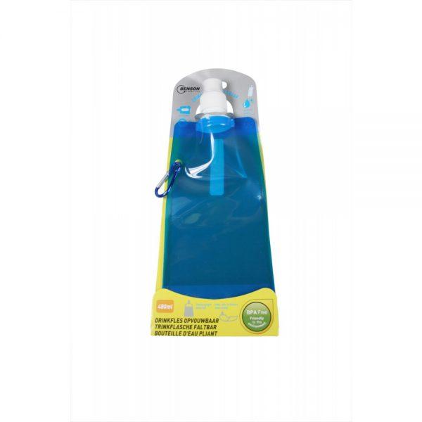 Faltbare Trinkflasche, Inhalt: 480ml, erhältliche Farben: blau und rot