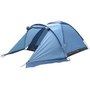 Campingzelt für drei Personen, blau